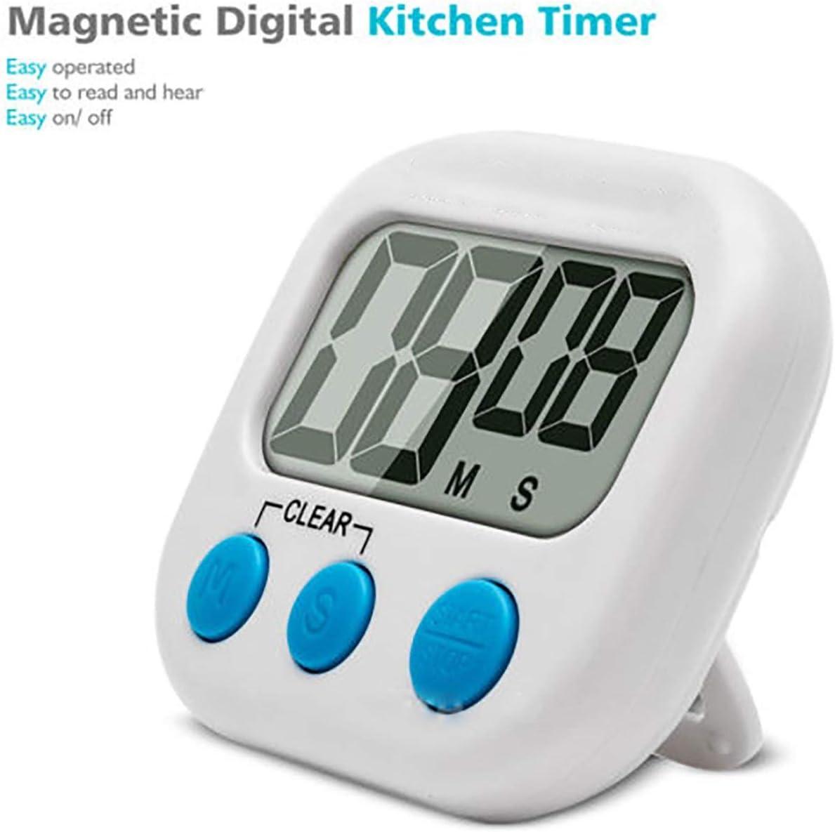 Minuteur de Cuisine Minuterie Cuisson Numérique Alarme Digitale LCD Aimantée
