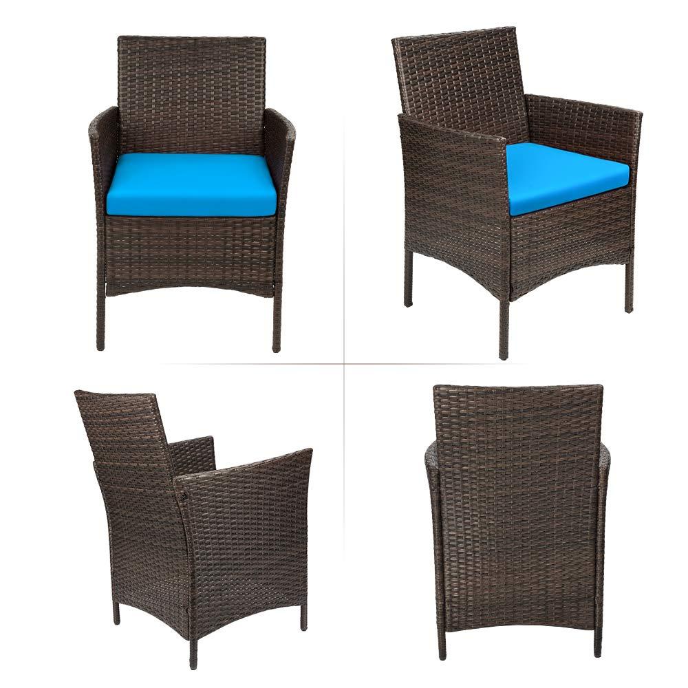 red devoko patio porch furniture sets 3