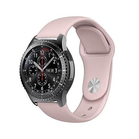 BarRan Garmin Vivoactive 3 Bracelet, 20MM Quick Release Bande en TPU Silicone Souple de Remplacement