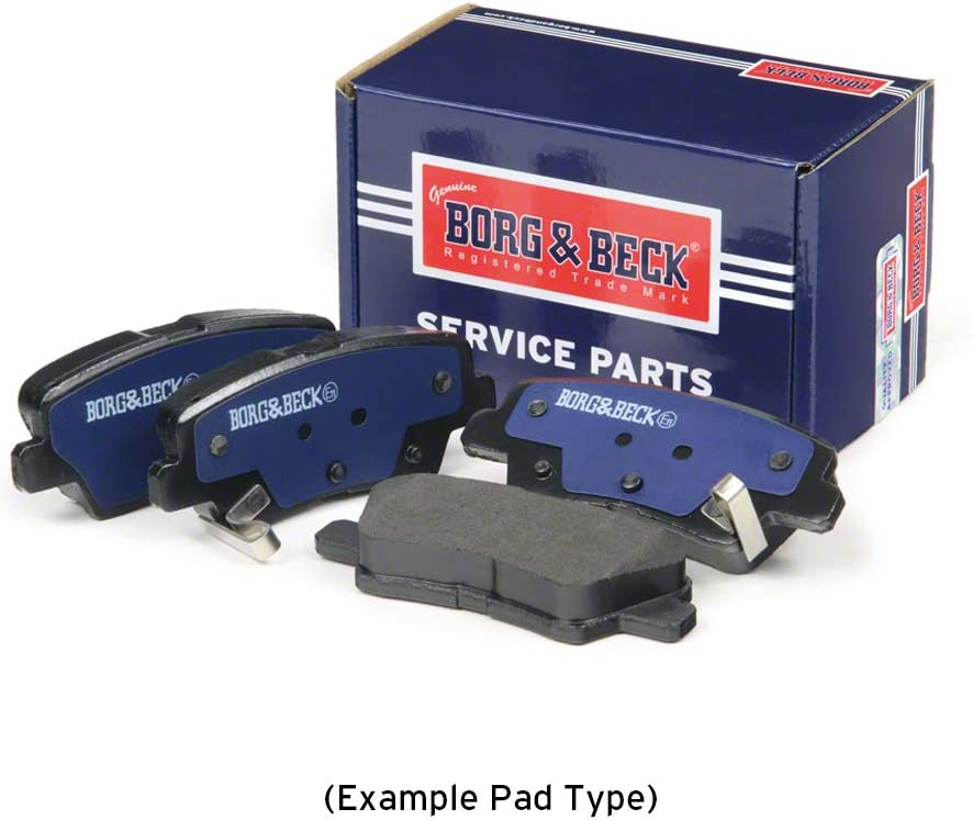 Includes Wear Indicators//Leads Borg /& Beck BBP2436 Front Brake Pads Brembo
