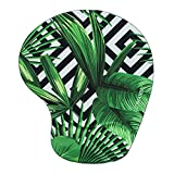striped mouse pad - Lizimandu Non Slip Mouse Pad Wrist Rest For Office, Computer, Laptop & Mac - Durable & Comfortable & Lightweight For Easy Typing & Pain Relief-Ergonomic Support(Black Striped Leaves)