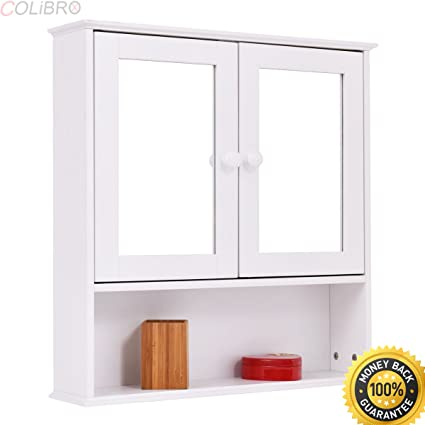 Amazon Com Colibrox New Bathroom Wall Cabinet Double Mirror Door