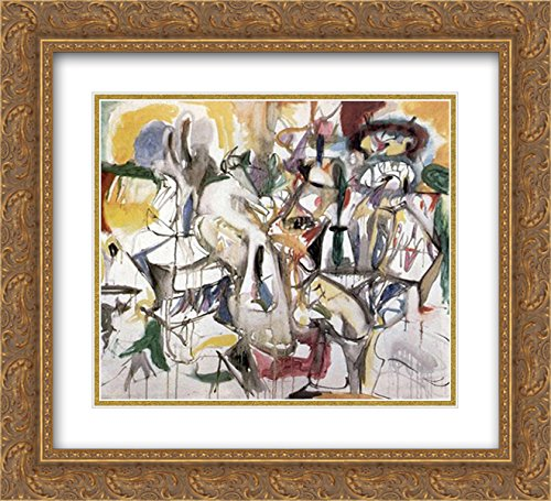 (Arshile Gorky 2X Matted 22x20 Gold Ornate Framed Art Print 'How My Mother's Embroidered Apron Unfolds in My Life')