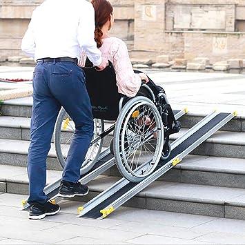 Rampas para Silla de Ruedas Drive Medical Single Fold rampa para Scooter de Silla de Ruedas portátil con asa de Transporte y Bolsa de Viaje,2.1m: Amazon.es: ...