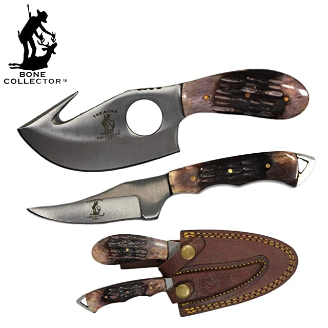 Bone Collector Hunting Knife Two-Piece Set