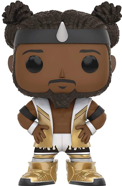Includes Compatible Pop Box Protector Case Kofi Kingston Funko Pop WWE Vinyl Figure