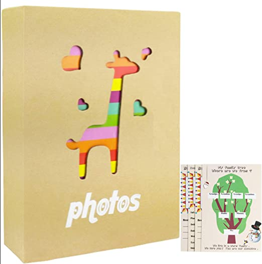 WLC 4x6 Photo Albums,100 Pockets 4x6 Photo Albums Mini 4x6 Photo Albums boy Brown