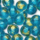 World Globe Premium Chocolate Earth Balls Wrapped in Shiny Earth Colored Foil - 1 LB