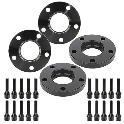 ECCPP 4X 5 Lug Wheel Spacers 20mm 5x120mm to 5x120mm 74.1mm hub fits for 1996-2003 BMW M5 525i 528i 530i with 12x1.5 Studs: Automotive