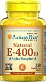 Puritan's Pride Vitamin E-400 iu 100% Natural-250 Softgels