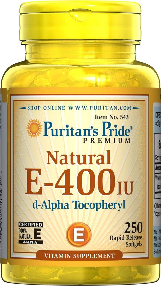 天然ビタミンE-400IU250錠 Natural E-400IU 250 Softgels B004R66HGO