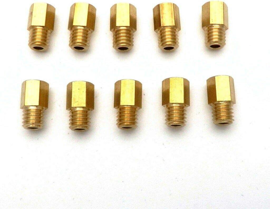 Gxcdizx pack of 10 Hex Type Main Jets for MIKUNI VM//TM//TMX Carburetor 300-390 set