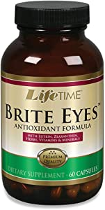 Lifetime Brite Eyes Antioxidant Formula | Supports Dry Eyes, Vision & Eye Health | with Lutein, Zeaxanthin, Bilberry, Vitamin A & C | 30 Servings