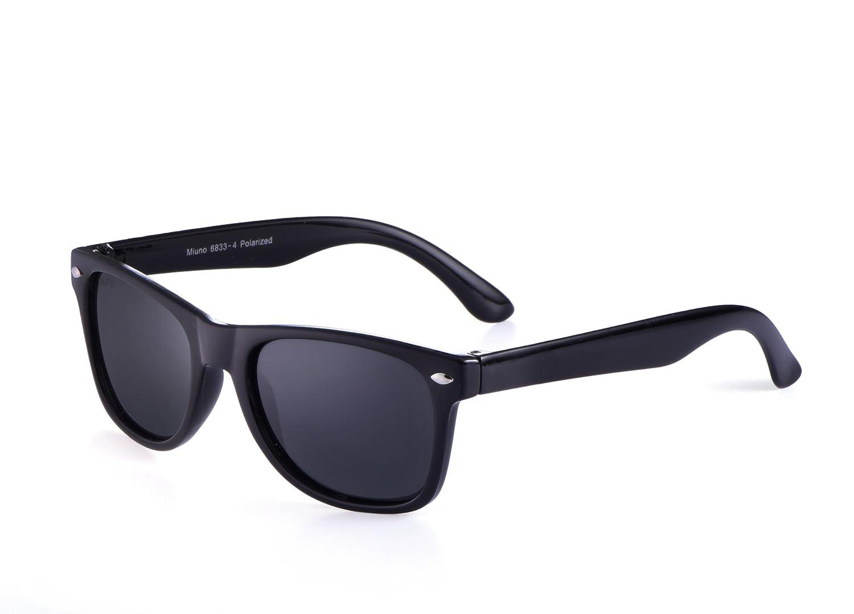 Miuno/® Occhiali da Sole polarizzati Bambini Dual-Polarized Wayfare Custodia per Bambini e Bambine 6833/a