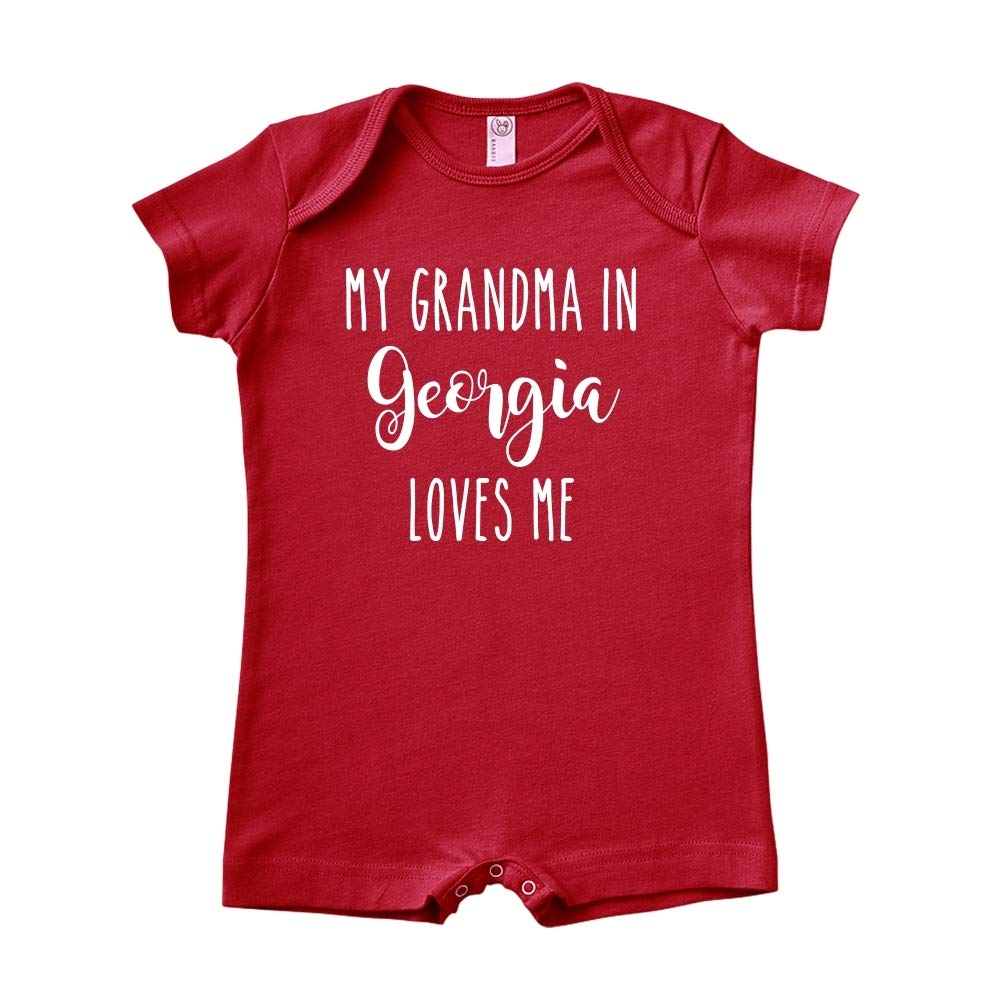 My Grandma in Georgia Loves Me Baby Romper