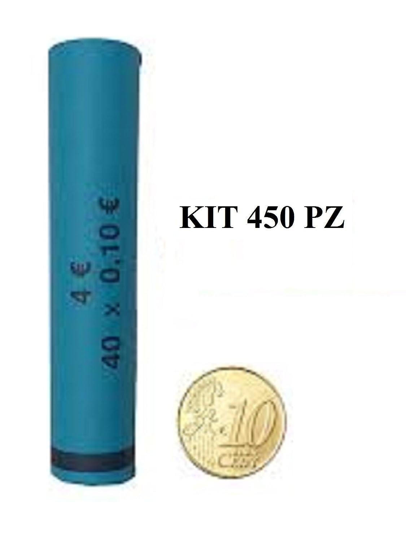 Kit 450 tubi carta portamonete da 10 centesimi BLISTER PER MONETE EURO TUBI DI CARTA PRECONFEZIONATI EURO CENT
