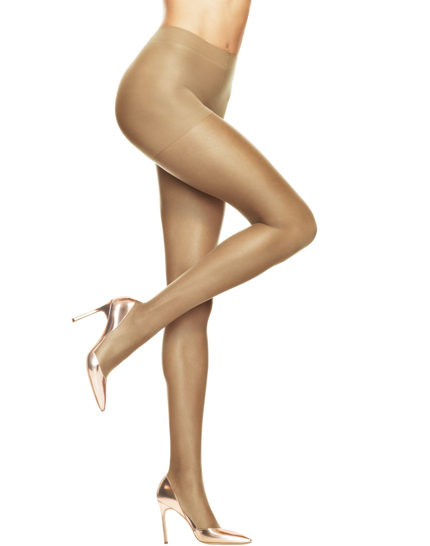 Hanes Women`s Set of 3 Absolutely Ultra Sheer Control Top Sheer Toe Pantyhose C, Nude