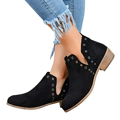 dd80304d00f6e Amazon.com: Cenglings Ankle Boots,Women's Pointed Toe Suede Low ...