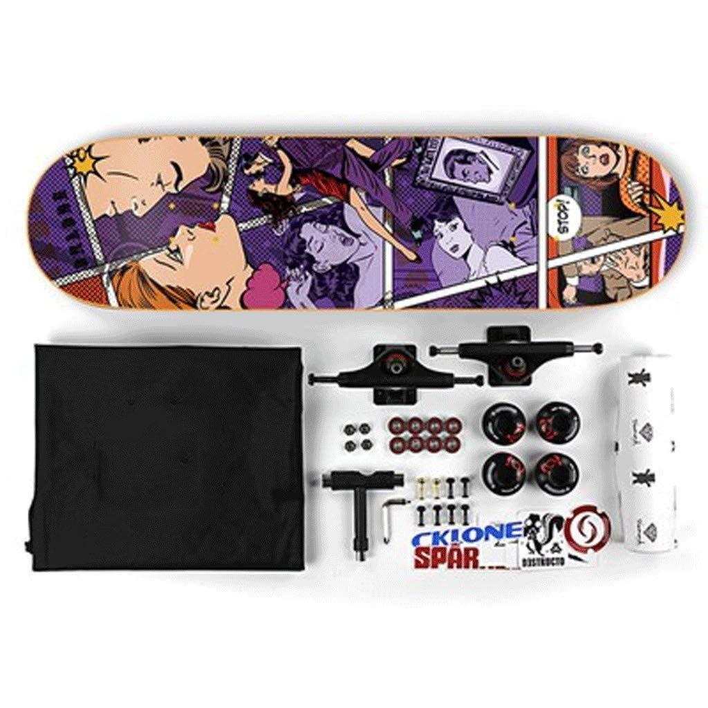 【福袋セール】 スモールホイールスケートボードアセンブリスケートボード滑り止めスケートボード高耐荷重スケートボード弾性スケートボードスキルスケートボードPUホイールスケートボード Game) (色 : : Game) B07QXRTRQ1 紫の 紫の 紫の, 楢葉町:f83a4ab6 --- arianechie.dominiotemporario.com