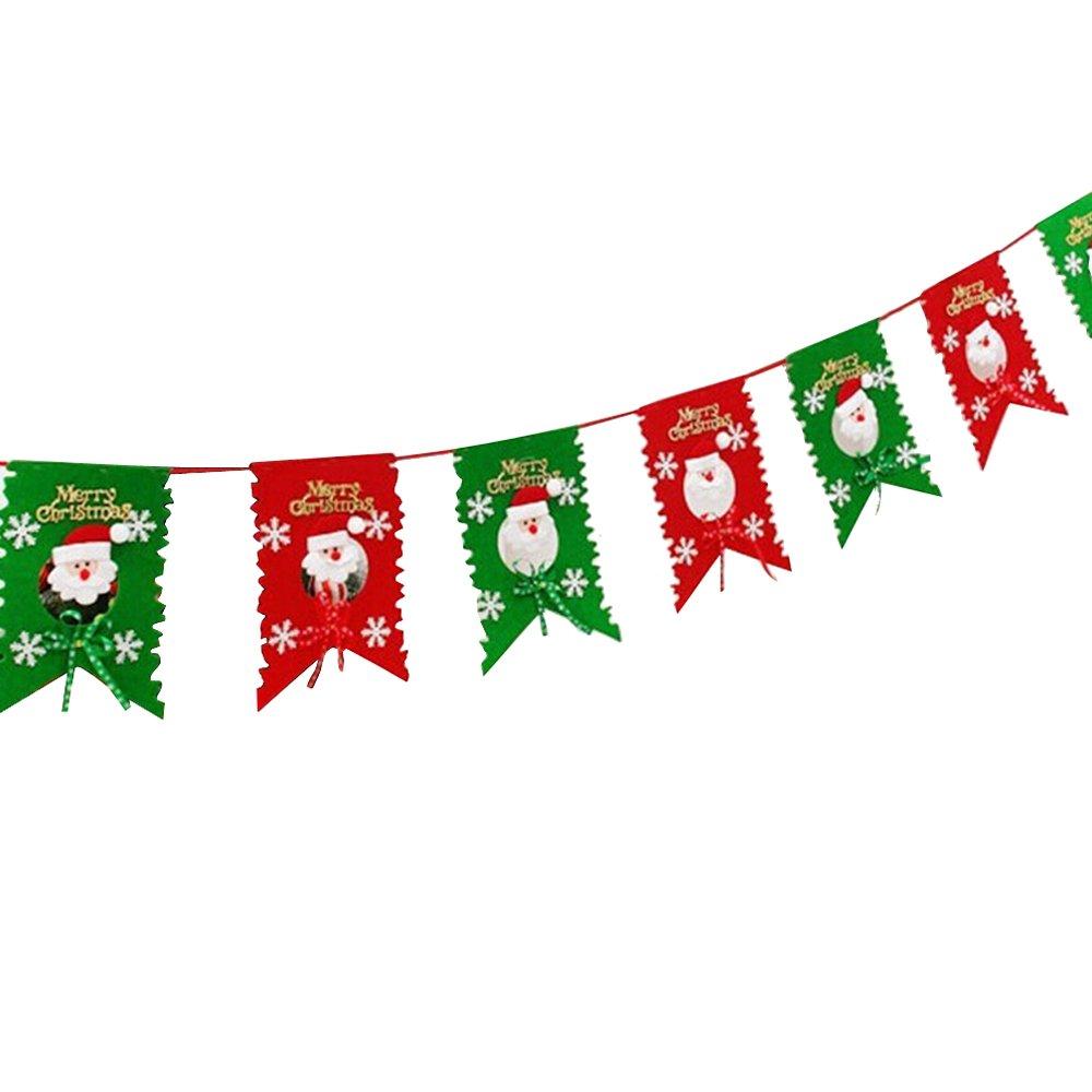 Aohro Weihnachts-Banner, Xmas Flagge hängende Baum: Amazon.de ...