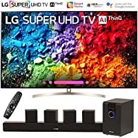 LG 65SK9500PUA 65 Super UHD 4K HDR AI Smart TV w/Nano Cell (2018 Model) with Sharper Image 5.1 Home Theater System w/Subwoofer, Sound Bar & Satellite Speakers