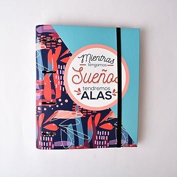 Grupo Erik Editores Amelie - Carpeta con 4 anillas troquelada, 32 x 27.5 cm: Amazon.es: Oficina y papelería