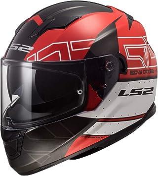 Amazon.es: LS2 Casco de moto STREAM EVO KUB Rojo Negro, Rojo/Negro, S