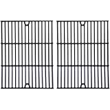 Porcelain Cast Iron Cooking Grid for Master Forge 1010037, Nexgrill 720-0719BL, 720-0773, Charbroil 463411512, 463411712, 463411911, C-45G4CB, Phoenix KS10002 and Tera Gear 1010007A, 13013007TG Gas Grill Models, Set of 2