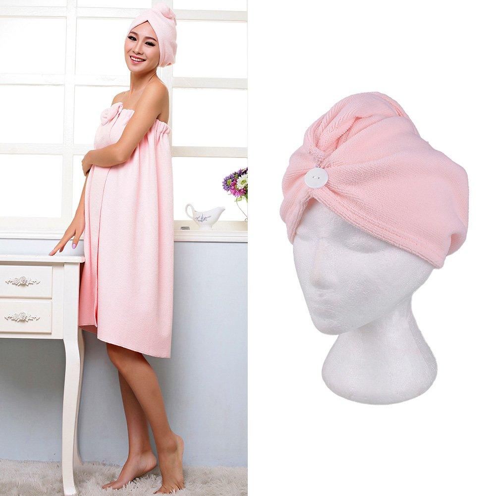 Hongch Schnell Fast Dry Mikrofaser Handtuch Wrap-Hut Deckel Haar Magie Drying Soft-Bade Spa Turban