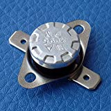 Electronics-Salon 10 PCS KSD301 Normally Close NC 150°C Thermostat, Bimetal Disc Temperature Switch.