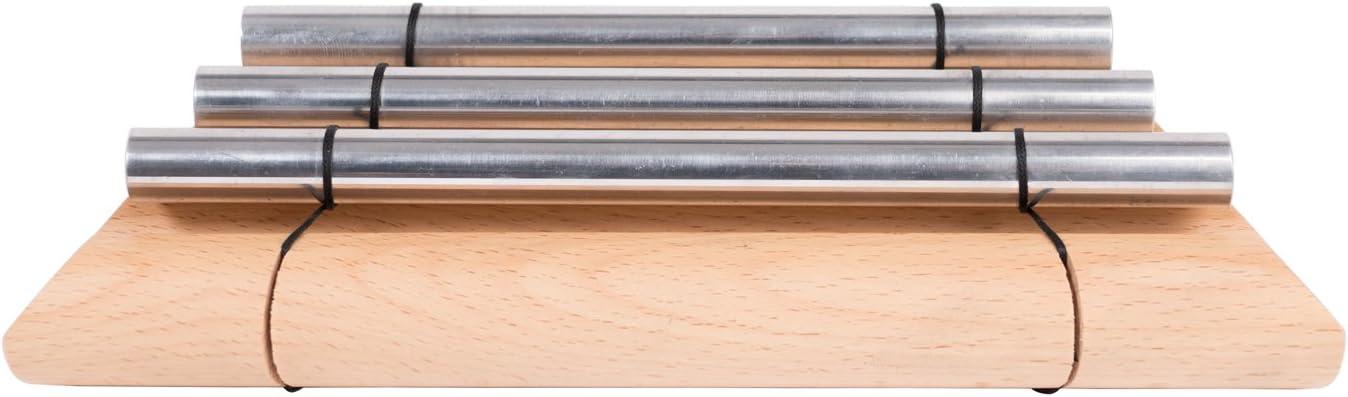 tono triplo incluso mallets in plastica CASCHA HH 2010 Triple Row Energy Chimes