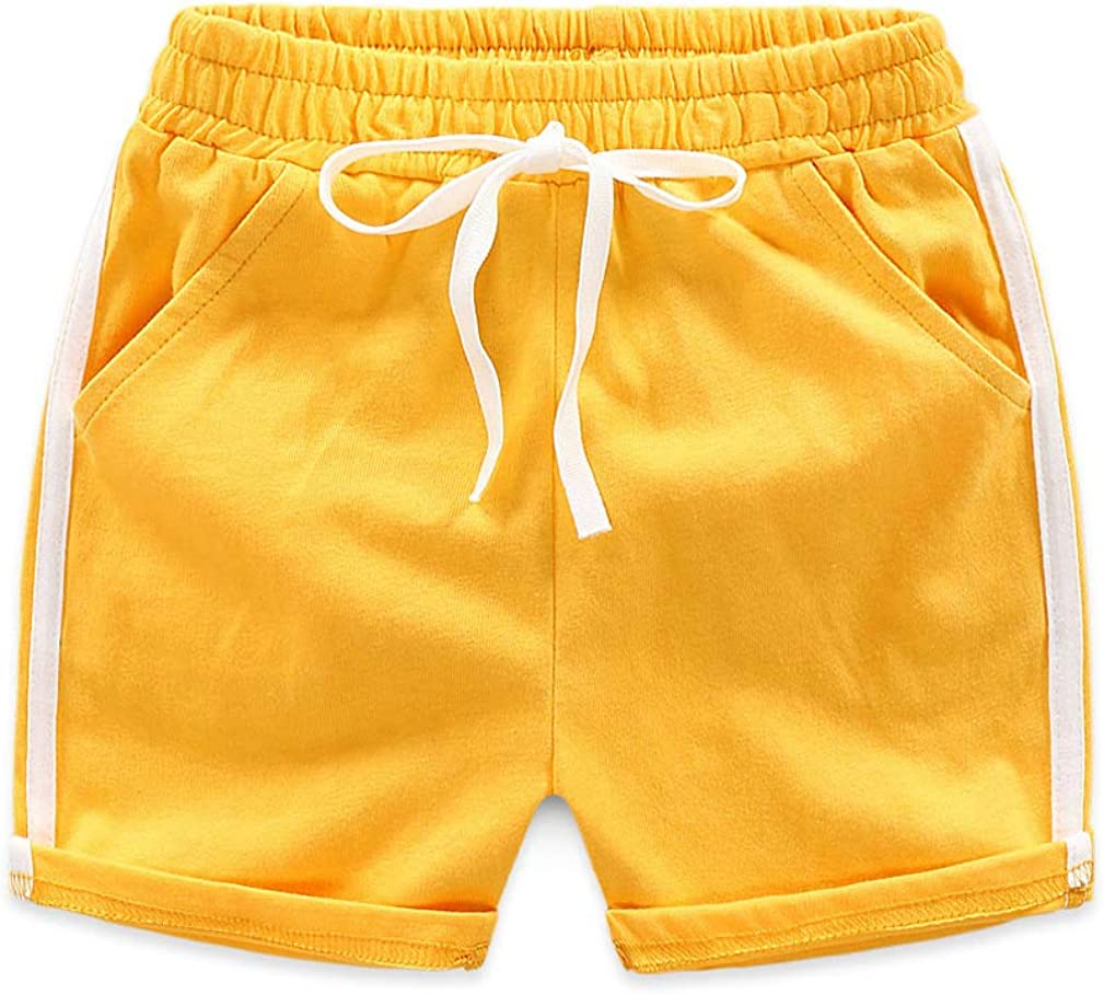 Infant Kids Girls Boys Girls Casual Bottoms Candy Color Sport Cotton Shorts Summer Beach Hot Pants Baby Clothing