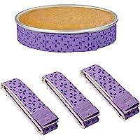 Set of 3 Bake Even Cake Strips,Cake Pan Dampen Strips,Super Absorbent Thick Cotton,Cake Strips for Baking,Cake Pan…