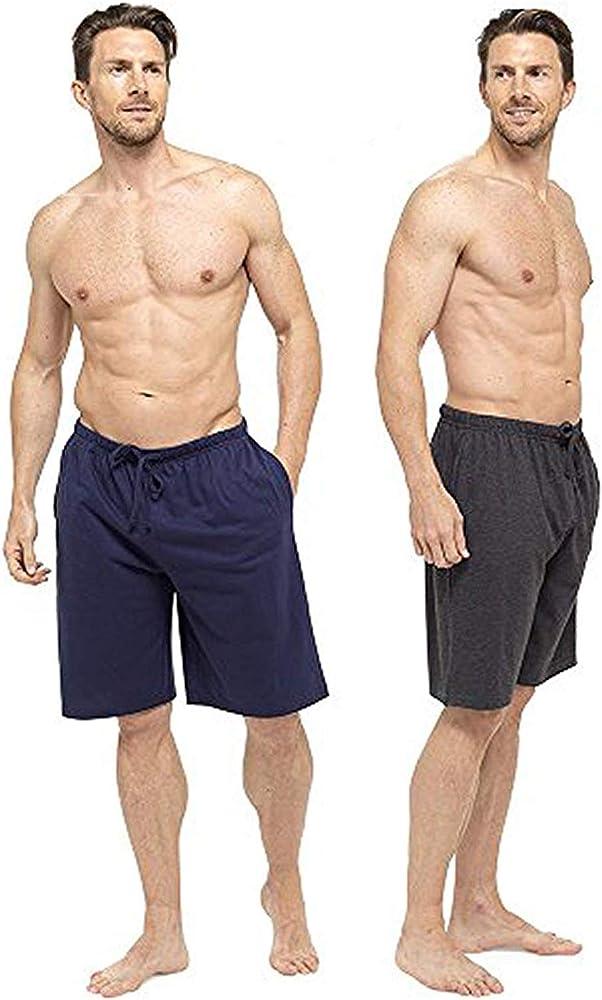 CityComfort Pantalones de Vestir Lounge para Hombre con Parte Inferior con puños o Pantalones Cortos Salón (L, Armada y carbón): Amazon.es: Ropa y accesorios