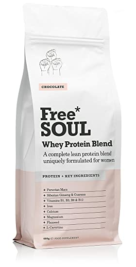 Free Soul Proteína Whey en Polvo Mujer/Whey Protein | 80% Con Ingredientes Naturales