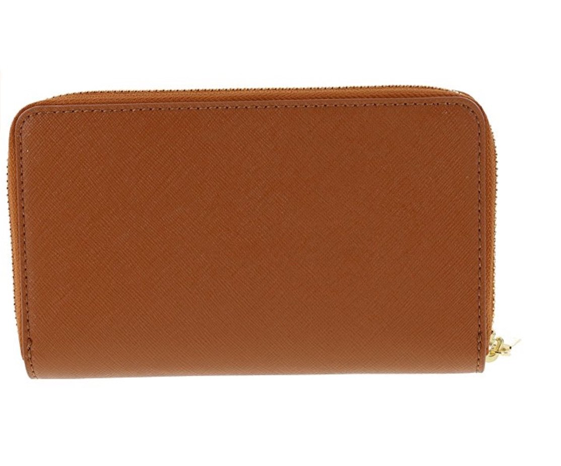 Tory Burch Robinson Mini Continental Saffiano Leather Wallet, Style No 34411 (Luggage) by Tory Burch (Image #4)