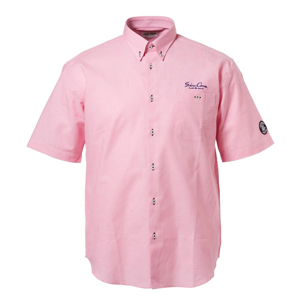 (シナコバ) SINA COVA 半袖ボタンダウンシャツ B07BXTR7TQ M ブライトピンク ブライトピンク M