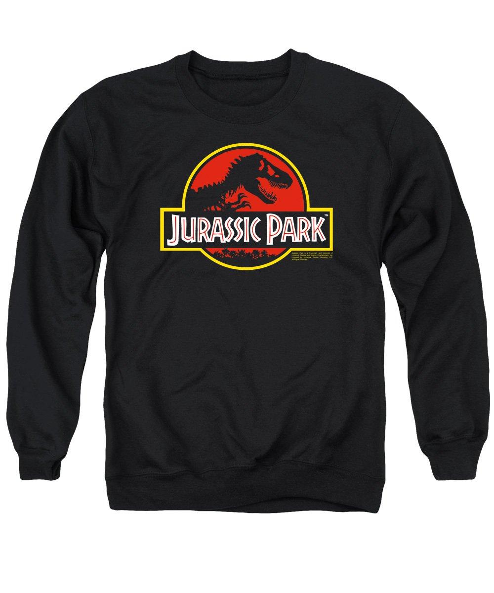 Jurassic Park Classic Logo Mens Crew Neck Sweatshirt Trevco