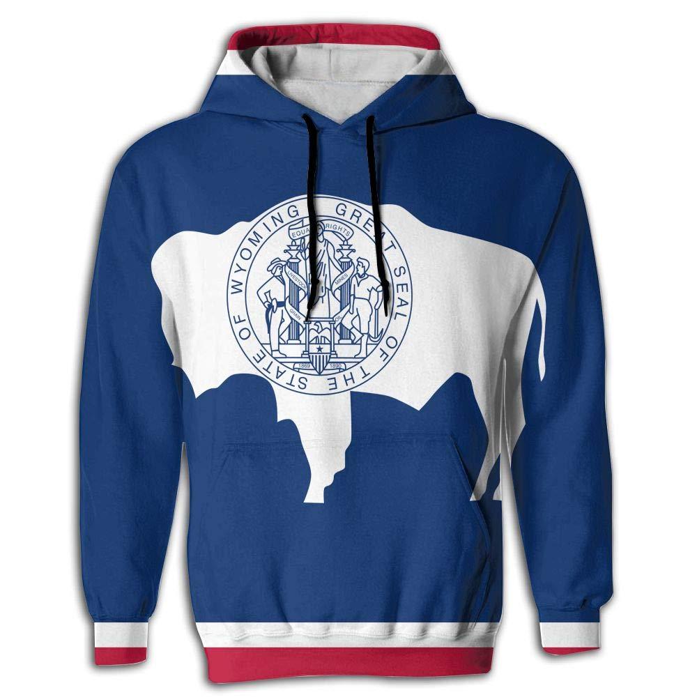 CHAN03 Unisex Realistic 3D Print Hoodie Hooded Sweatshirts Wyoming State Flag