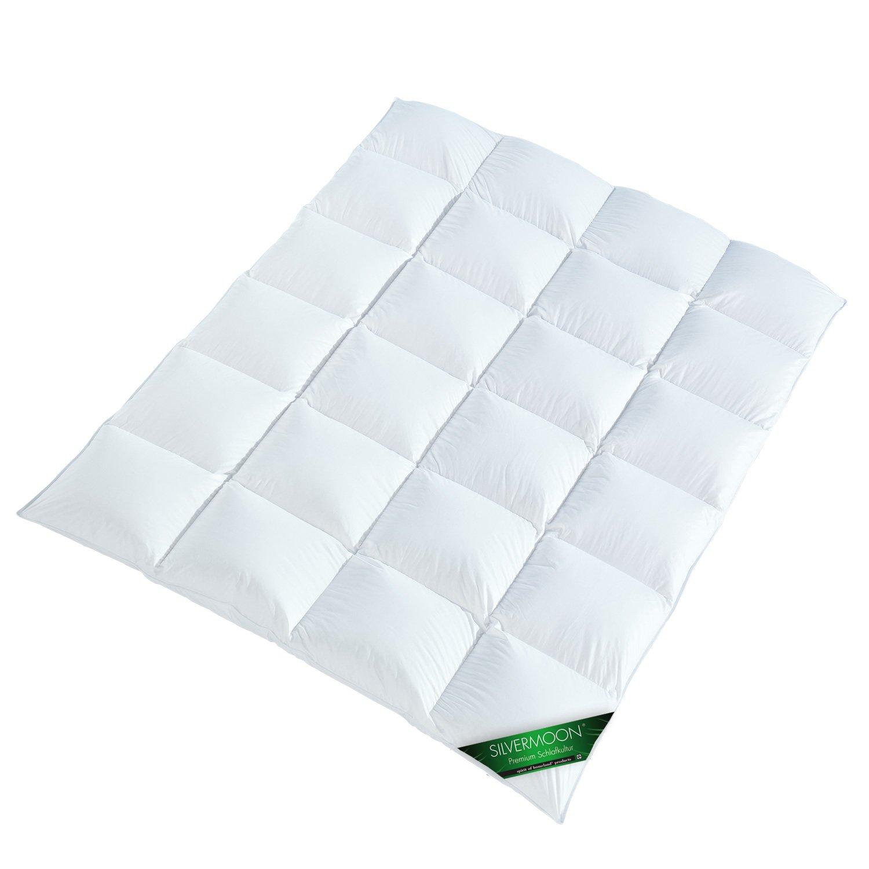 Silvermoon 4001626019427 Premium Ganzjahres-Kassettendecke, Baumwollhülle gefüllt mit Suprelle Microfaser, 135 x 200 cm