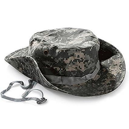 Cdet Sombrero de cuchara Pesca militar caza de acampada sombrero de ancho  brim hombres sombrero de 60ee778bfd3