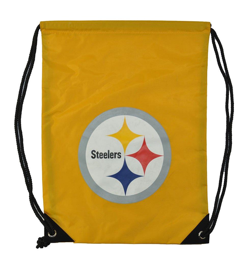 NFLフットボールチームロゴ巾着バックパックバッグ – Pickチーム B077TYSNKJ  ピッツバーグスティーラーズ
