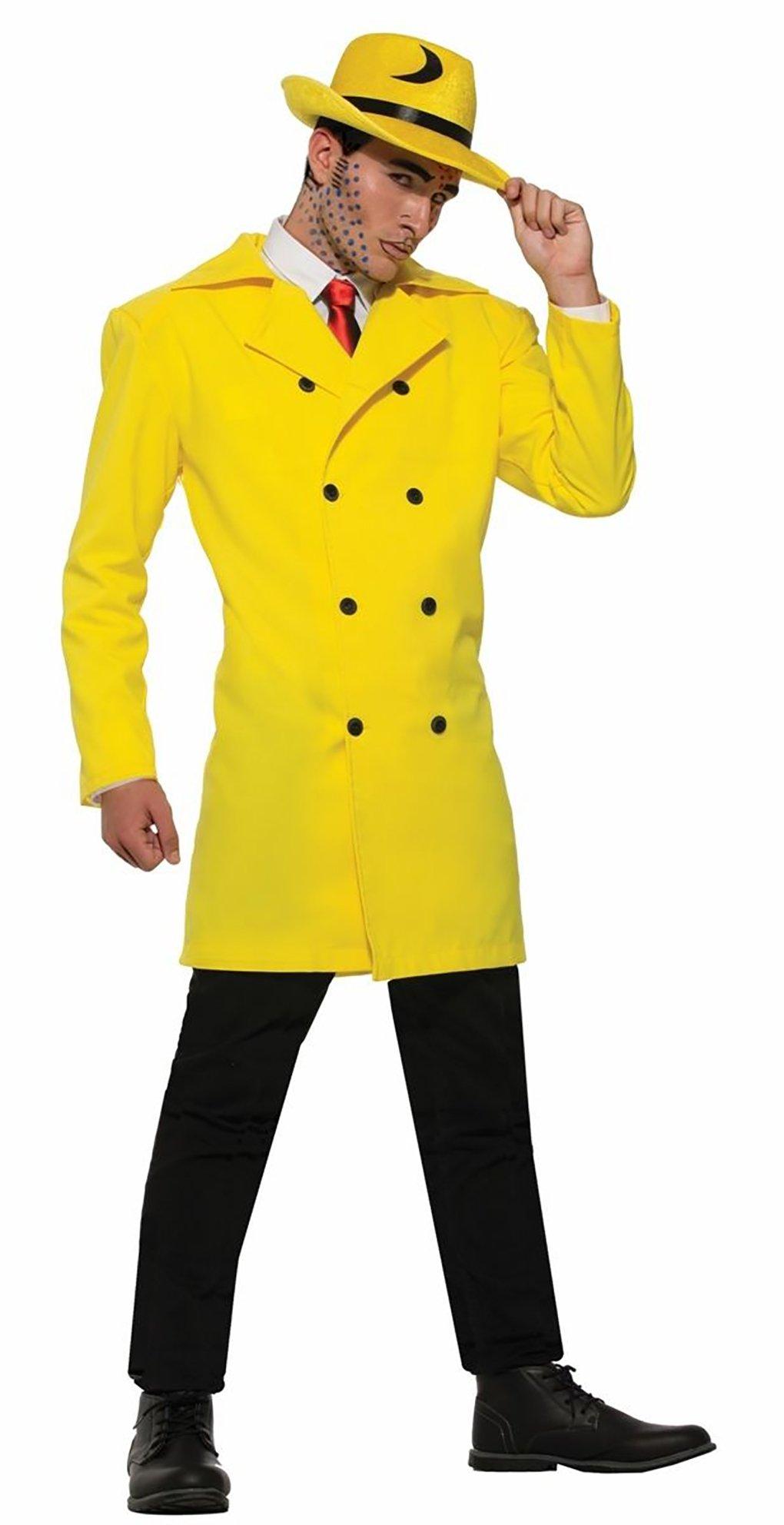 Adult Standard Size Pop Art Yellow Gangster Jacket