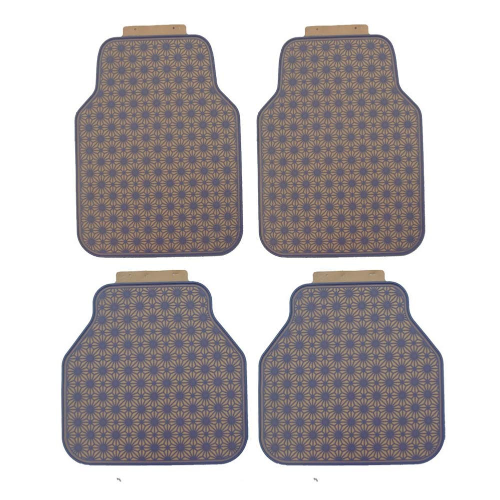 Car Floor Mat Full of Stars Latex car mats Waterproof Non-Slip Universal Foot pad car Latex mats, 4-Piece Set, Weight 5.0Kg,E by ZQYR Pad@ (Image #1)