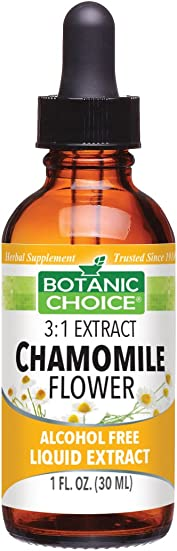 Botanic Choice Chamomile Flower Alcohol Free Liquid Extract, 1 Fluid Ounce