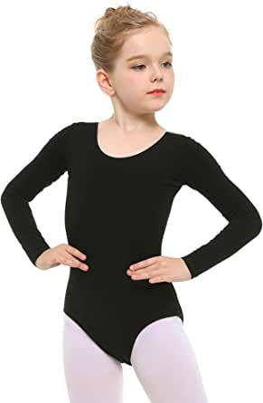 Stelle Girls' Long Sleeve Cotton Leotard for Dance, Gymnastics and Ballet (Toddler/Little Kid/Big Kid)