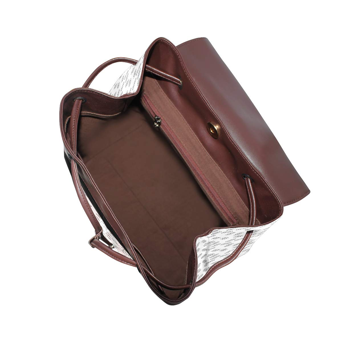 Leather Dollar Abstract Backpack Daypack Bag Women