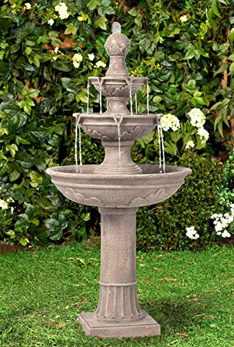 John Timberland Stafford Italian Outdoor Floor Water Fountain 48