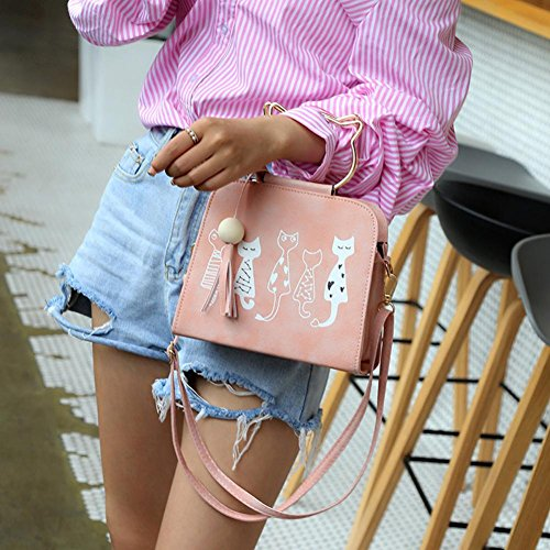 Messenger SHOBDW Pattern Bag Handbags Rabbit Womens Cat Shoulder Women Crossbody Pink Bags Animal Shoulder n6Ewwq8Hgx