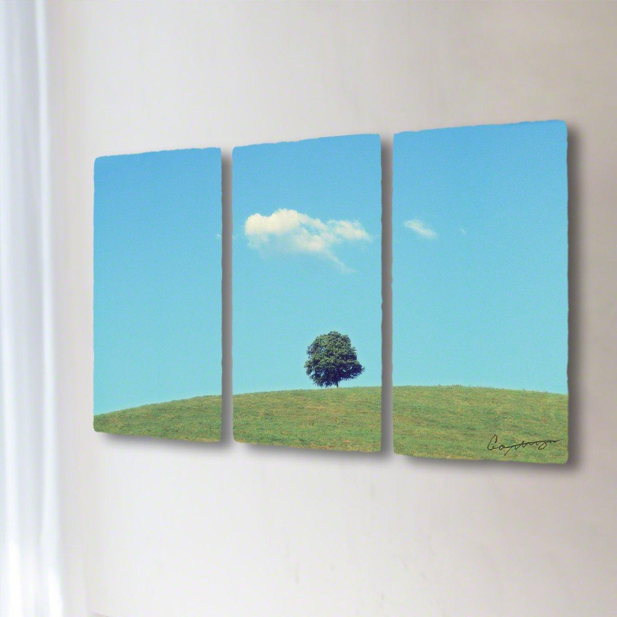 和紙 アートパネル 3枚 続き 「丘の上の木とはぐれ雲」 (64x36cm) 絵 絵画 壁掛け 壁飾り インテリア アート B07BHY6M51 32.アートパネル3枚続き(長辺64cm) 24800円|丘の上の木とはぐれ雲 丘の上の木とはぐれ雲 32.アートパネル3枚続き(長辺64cm) 24800円